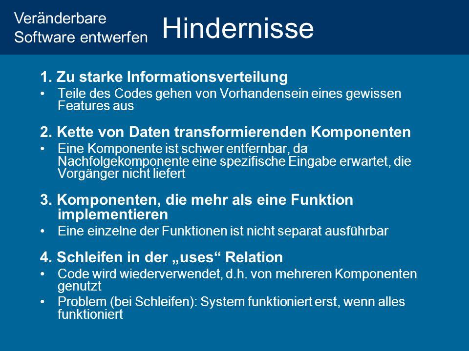 Veränderbare Software entwerfen Hindernisse 1.