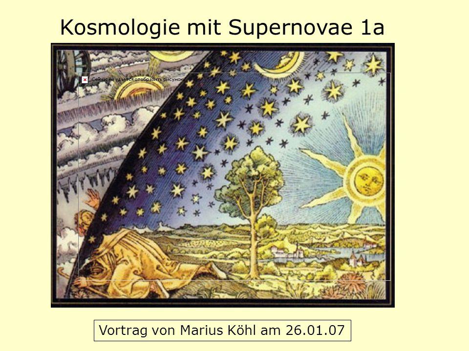 Kosmologie mit Supernovae 1a Vortrag von Marius Köhl am 26.01.07