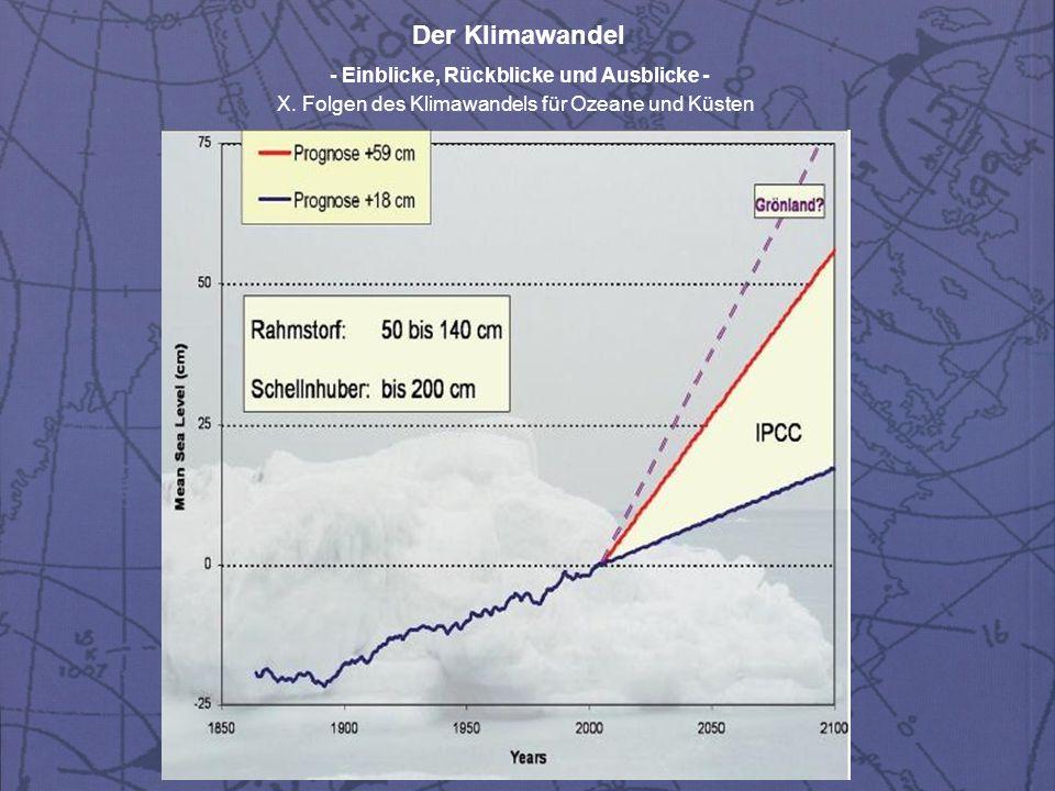Der Klimawandel - Einblicke, Rückblicke und Ausblicke - X.