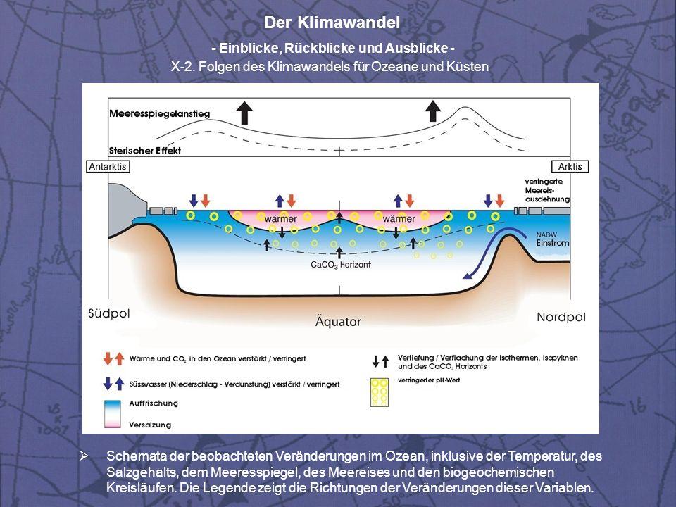 Der Klimawandel - Einblicke, Rückblicke und Ausblicke - X-2. Folgen des Klimawandels für Ozeane und Küsten Schemata der beobachteten Veränderungen im