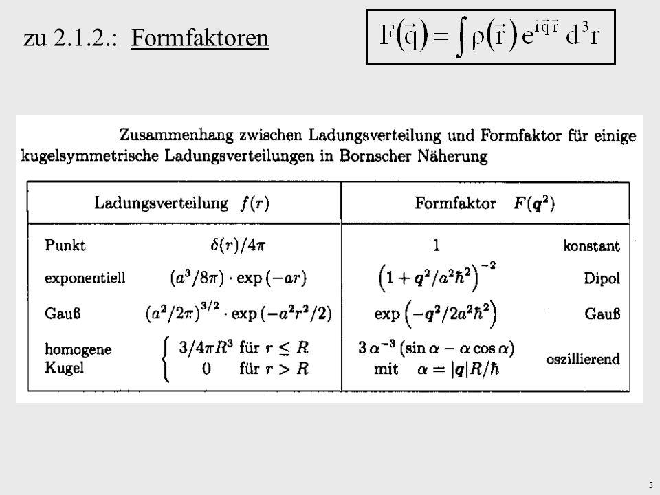 3 zu 2.1.2.: Formfaktoren