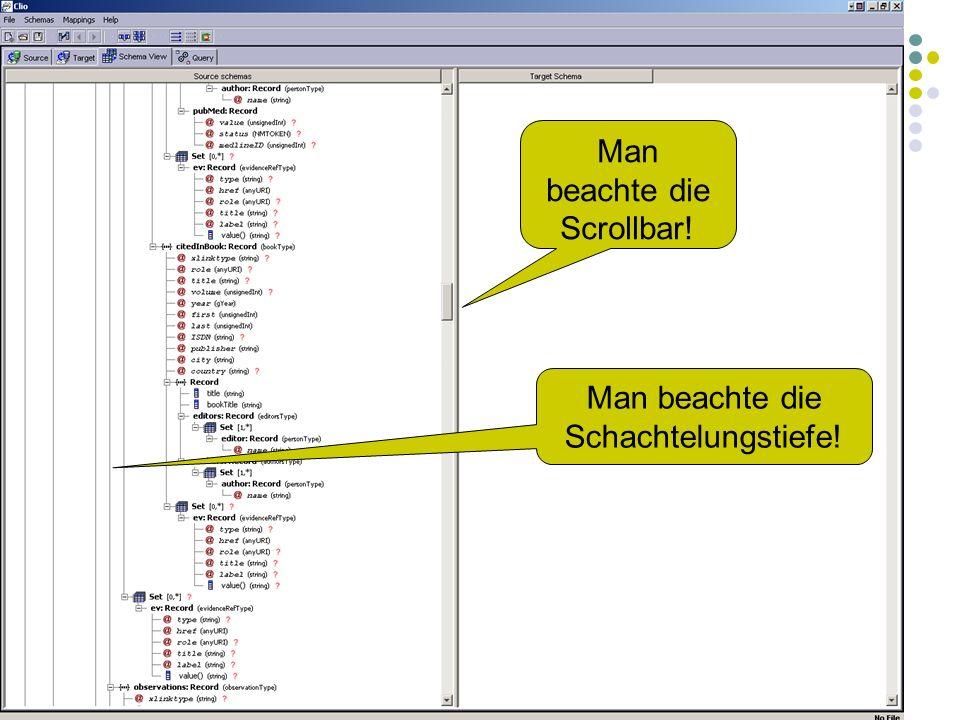 10.1.2006Felix Naumann, VL Informationsintegration, WS 05/065 Man beachte die Scrollbar.
