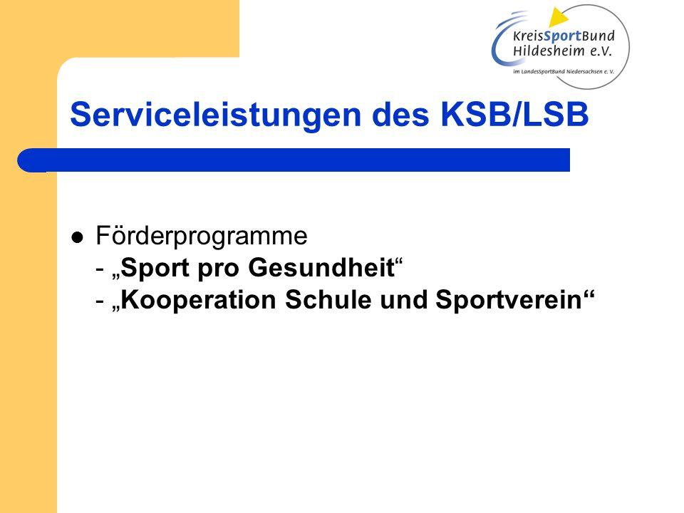 Serviceleistungen des KSB/LSB Sportabzeichen - Bearbeiten der Anträge - Ausgabe der Urkunden und Ehrenzeichen