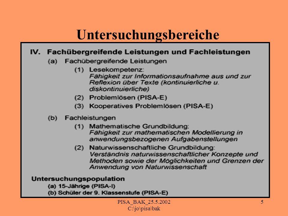 5 Untersuchungsbereiche