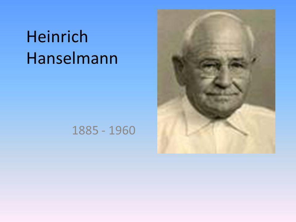 Heinrich Hanselmann 1885 - 1960