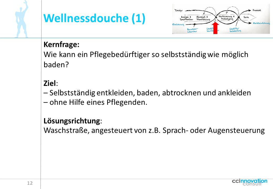 Wellnessdouche (1) 12 Kernfrage: Wie kann ein Pflegebedürftiger so selbstständig wie möglich baden.