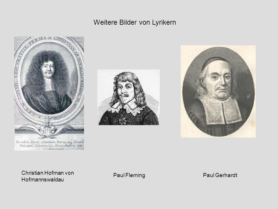 Weitere Bilder von Lyrikern Christian Hofman von Hofmannswaldau Paul FlemingPaul Gerhardt