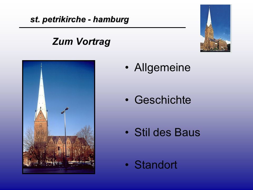 st.petrikirche - hamburg Allgemein St.