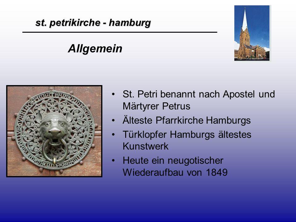 st.petrikirche - hamburg Geschichte - 1195 wird St.