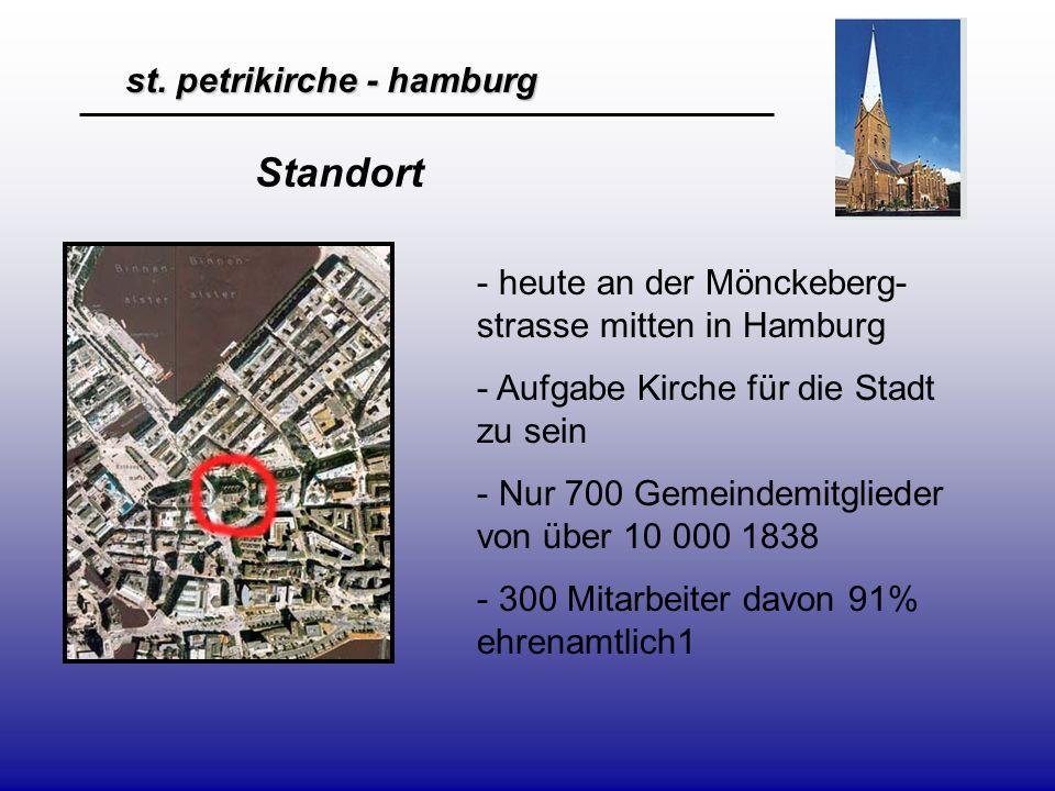 st. petrikirche - hamburg - heute an der Mönckeberg- strasse mitten in Hamburg - Aufgabe Kirche für die Stadt zu sein - Nur 700 Gemeindemitglieder von