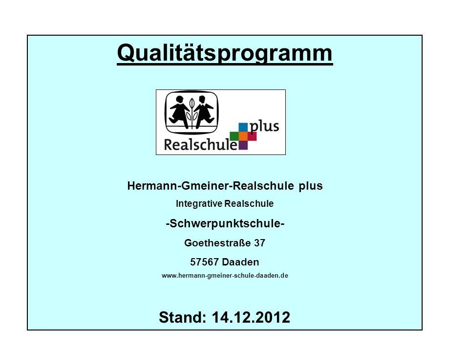 Qualitätsprogramm Hermann-Gmeiner-Realschule plus Integrative Realschule -Schwerpunktschule- Goethestraße 37 57567 Daaden www.hermann-gmeiner-schule-d