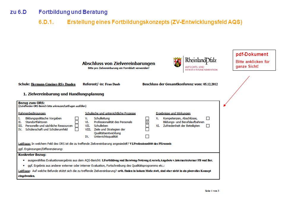 zu 6.DFortbildung und Beratung 6.D.1.Erstellung eines Fortbildungskonzepts (ZV-Entwicklungsfeld AQS) pdf-Dokument Bitte anklicken für ganze Sicht!