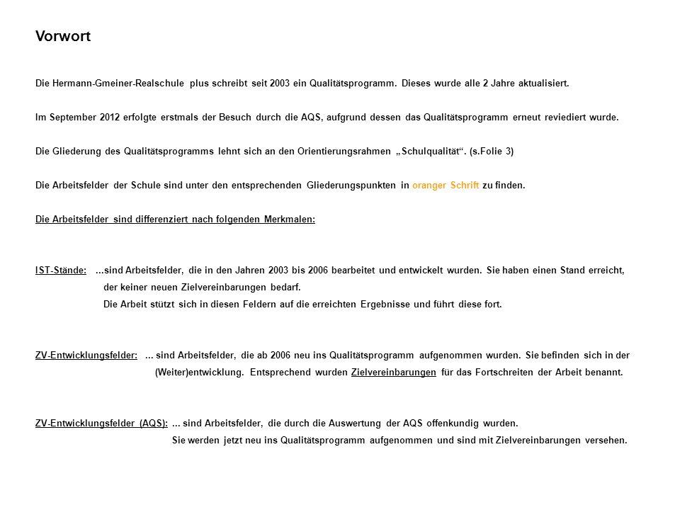 Vorwort Die Hermann-Gmeiner-Realschule plus schreibt seit 2003 ein Qualitätsprogramm. Dieses wurde alle 2 Jahre aktualisiert. Im September 2012 erfolg