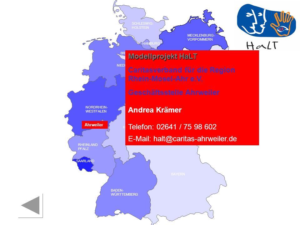 RHEINLAND PFALZ SAARLAND SACHSEN BRANDENBURG NORDRHEIN- WESTFALEN HESSEN BADEN- WÜRTTEMBERG BAYERN THÜRINGEN SACHSEN -ANHALT NIEDERSACHSEN BREMEN HAMBURG BERLIN MECKLENBURG- VORPOMMERN SCHLESWIG- HOLSTEIN Landratsamt Neustadt/ Aisch Bad Windsheim Gesundheitsamt Suchtprävention Christa Gertshausen Telefon: 09161 / 92 531 E-Mail: christa.gertshausen@kreis-nea.de in Zusammenarbeit mit: Bezirksjugendwerk der AWO in Ober- und Mittelfranken Rene Rosenzweig Telefon: 0911 / 44 23 22 E-Mail: r.rosenzweig@awo-bezirksjugendwerk.de Neustadt a.d.