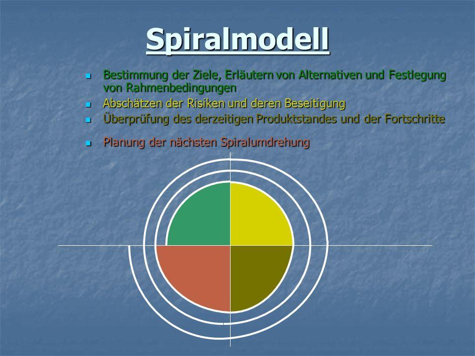 Bestimmung der Ziele, Erläutern von Alternativen und Festlegung von Rahmenbedingungen Bestimmung der Ziele, Erläutern von Alternativen und Festlegung