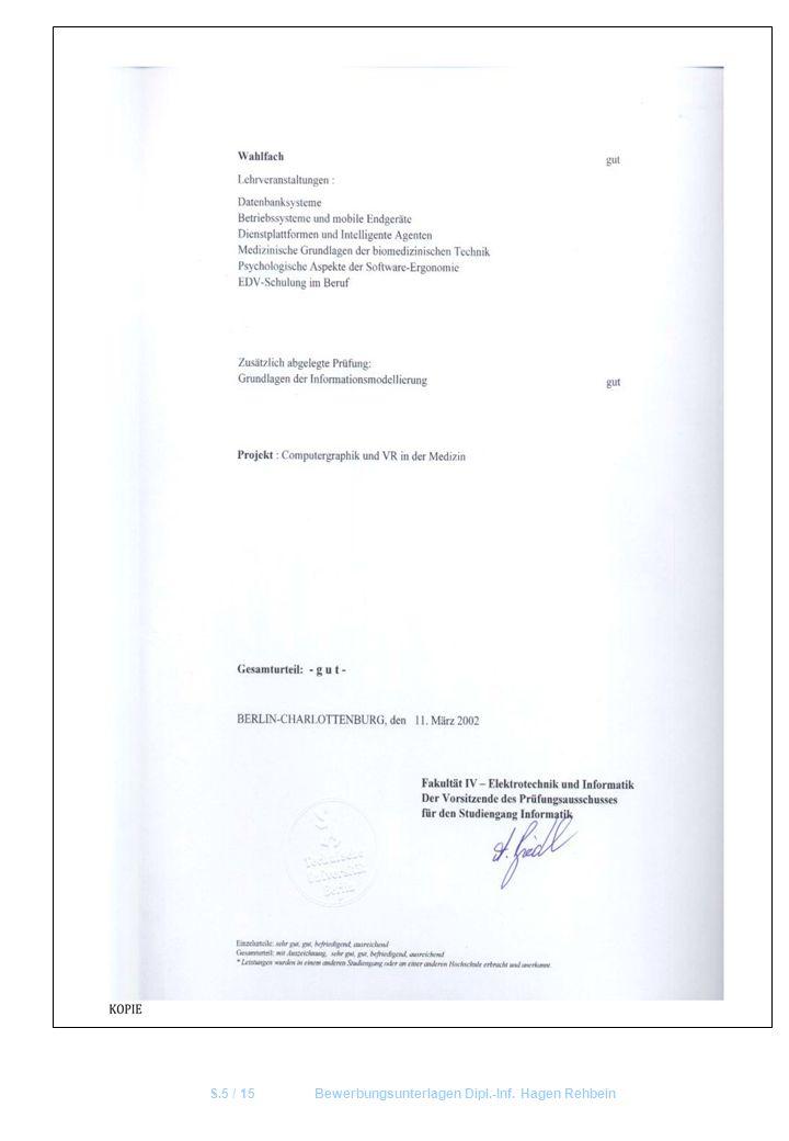 S.5 / 15Bewerbungsunterlagen Dipl.-Inf. Hagen Rehbein