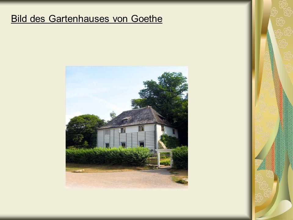Bild des Gartenhauses von Goethe