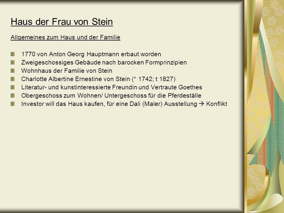 Bild des Hauses von Frau von Stein