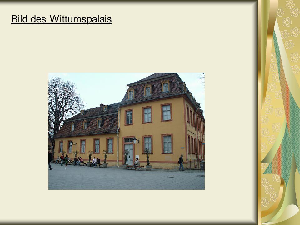 Cranachhaus Wann: 1547 gebaut 1710 umgebaut zu einer Buchhandlung (1.Weimarer Buchhandlung) 1892 restauriert das Cranachhaus wurde im 2.Weltkrieg zerstört.