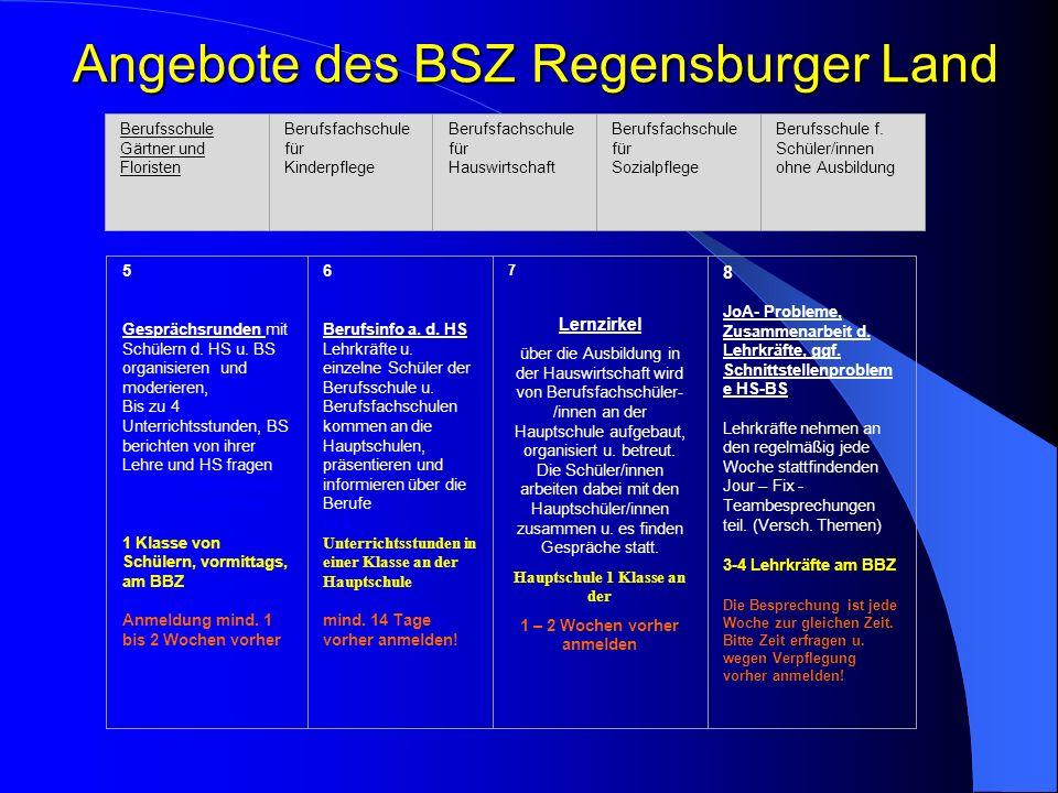 Lehrkräfte der BS und HS referieren in der lokalen Lehrerfortbildung Angebote des BSZ Regensburger Land Berufsschule Gärtner und Floristen Berufsfachs