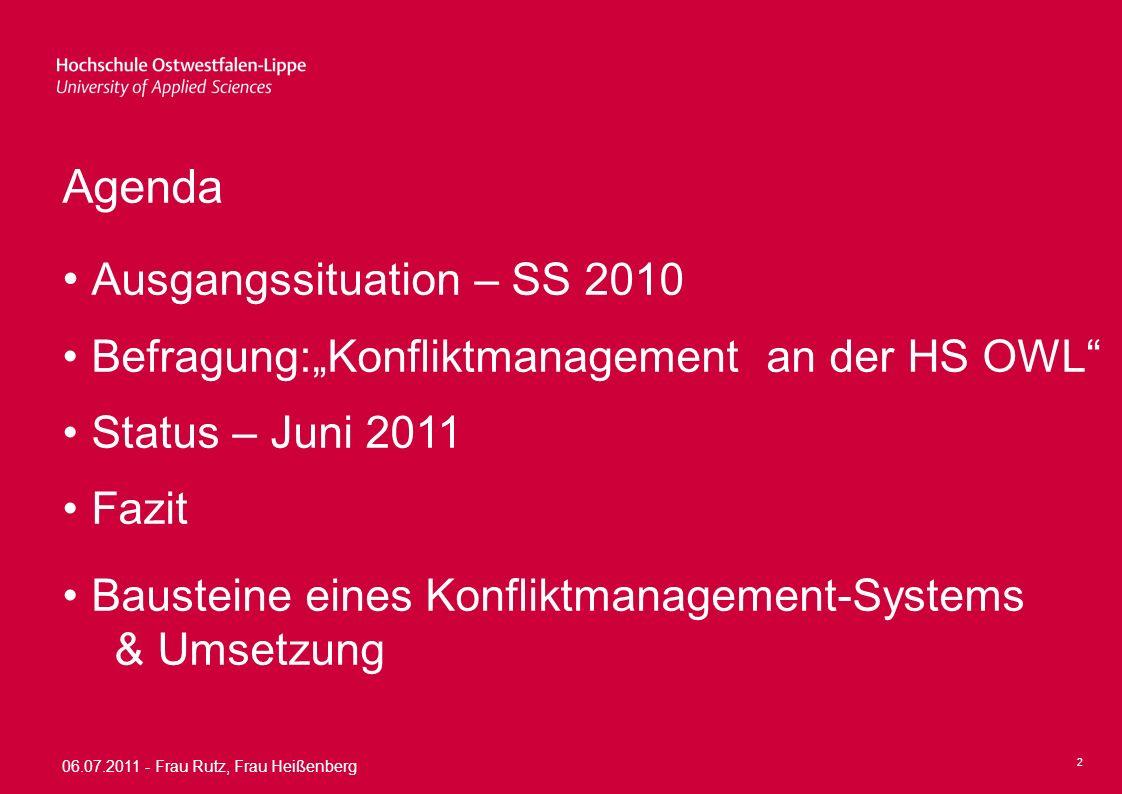 06.07.2011 - Frau Rutz, Frau Heißenberg 3 Ausgangssituation – SS 2010