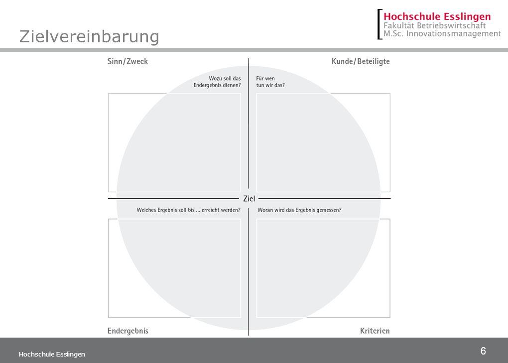 6 Hochschule Esslingen Zielvereinbarung
