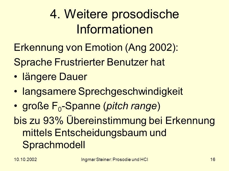 10.10.2002Ingmar Steiner: Prosodie und HCI15 Ungeschickter WOZ © Metro-Goldyn-Mayer, Inc.