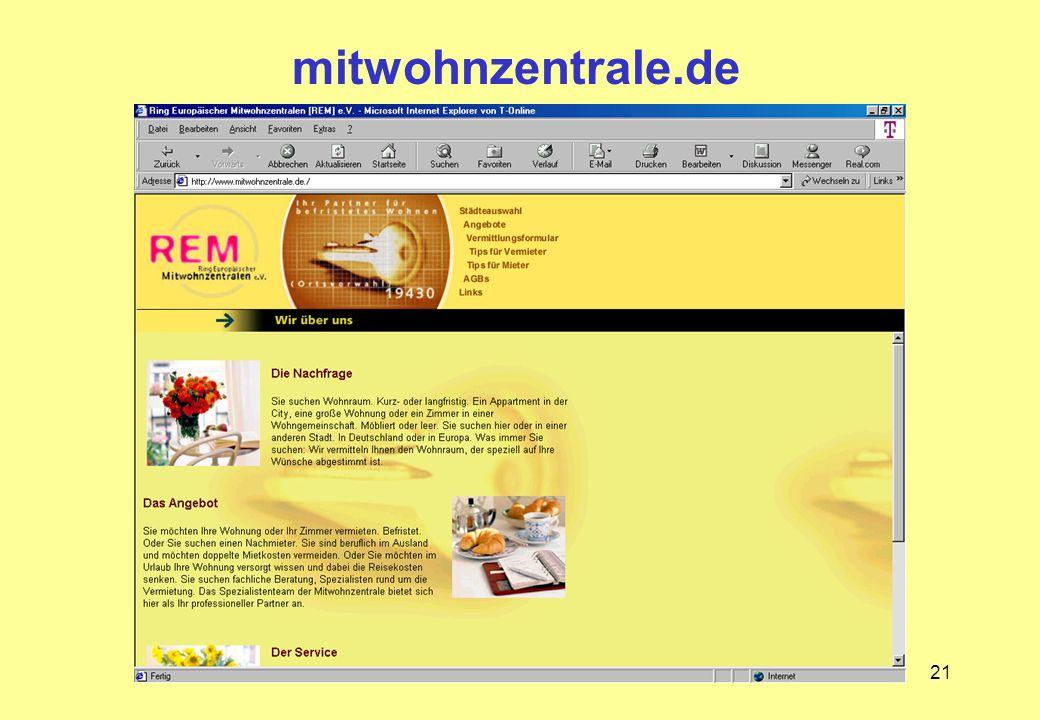 21 mitwohnzentrale.de