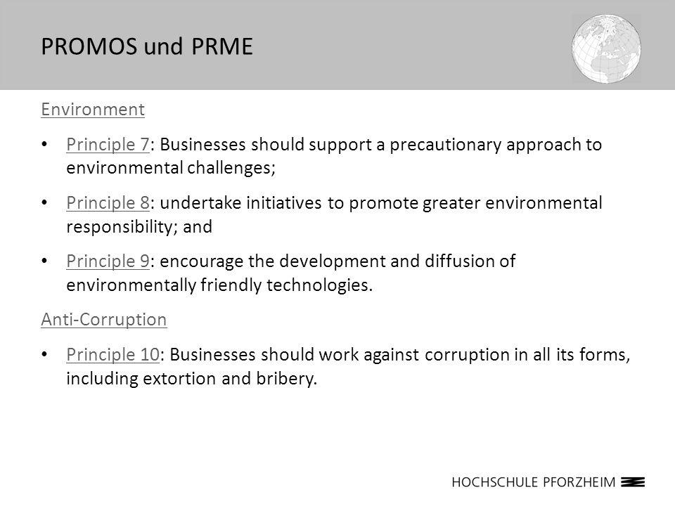 Ziele von PRME = Integration einer Responsible Management Education in: Lehre, d.h.