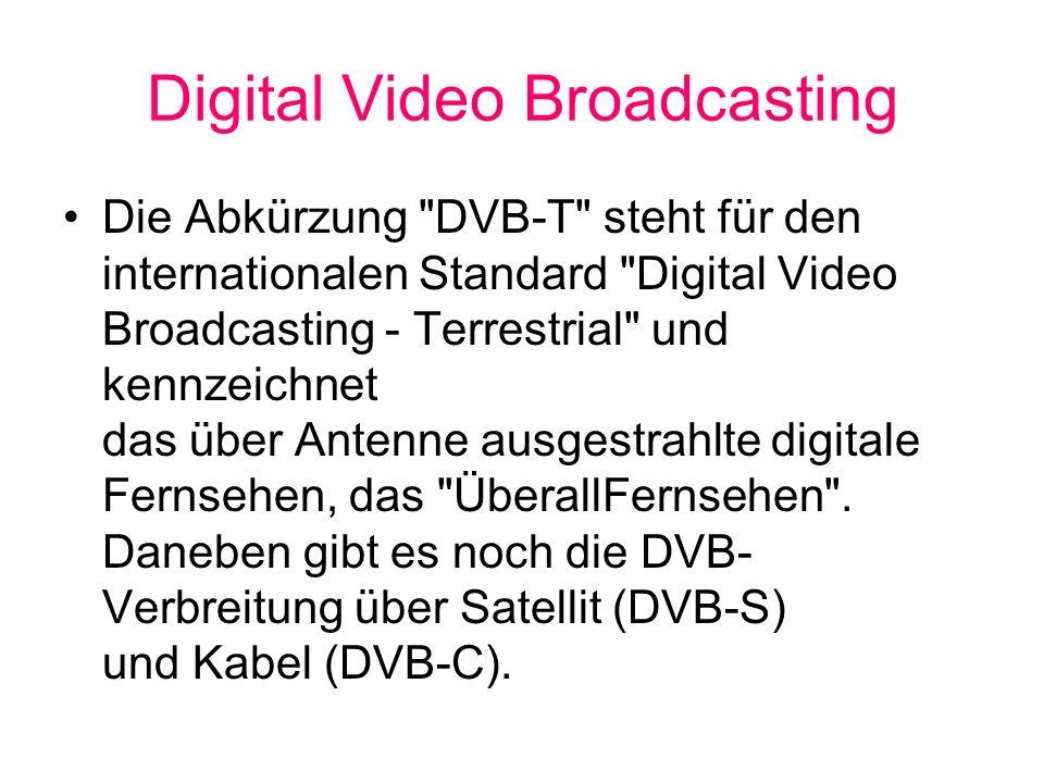Digital Video Broadcasting Die Abkürzung