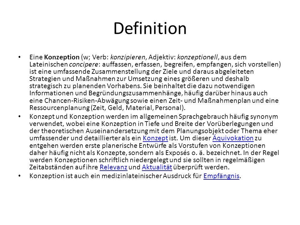 Definition Konzept (v.