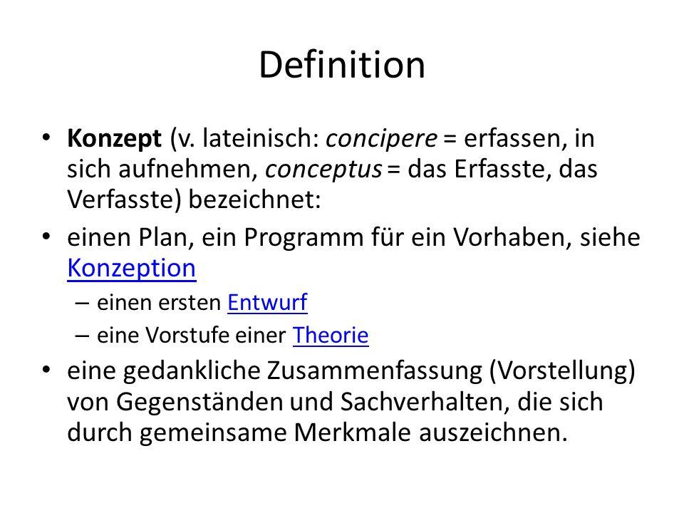 Ziele Ein Konzept verfolgt das Ziel, ein bestimmtes Vorhaben soweit voraus zu planen und voraus zu denken, zu strukturieren, dass auf Basis der hier gemachten Angaben (schriftliches Exposé), es möglich wird eine Entscheidung für oder gegen ein Projekt zu treffen.