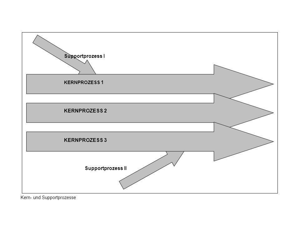KERNPROZESS 1 KERNPROZESS 2 KERNPROZESS 3 Supportprozess II Supportprozess I Kern- und Supportprozesse