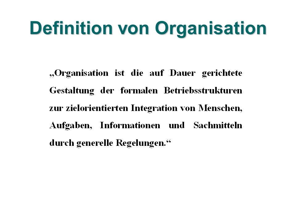 Definition von Organisation