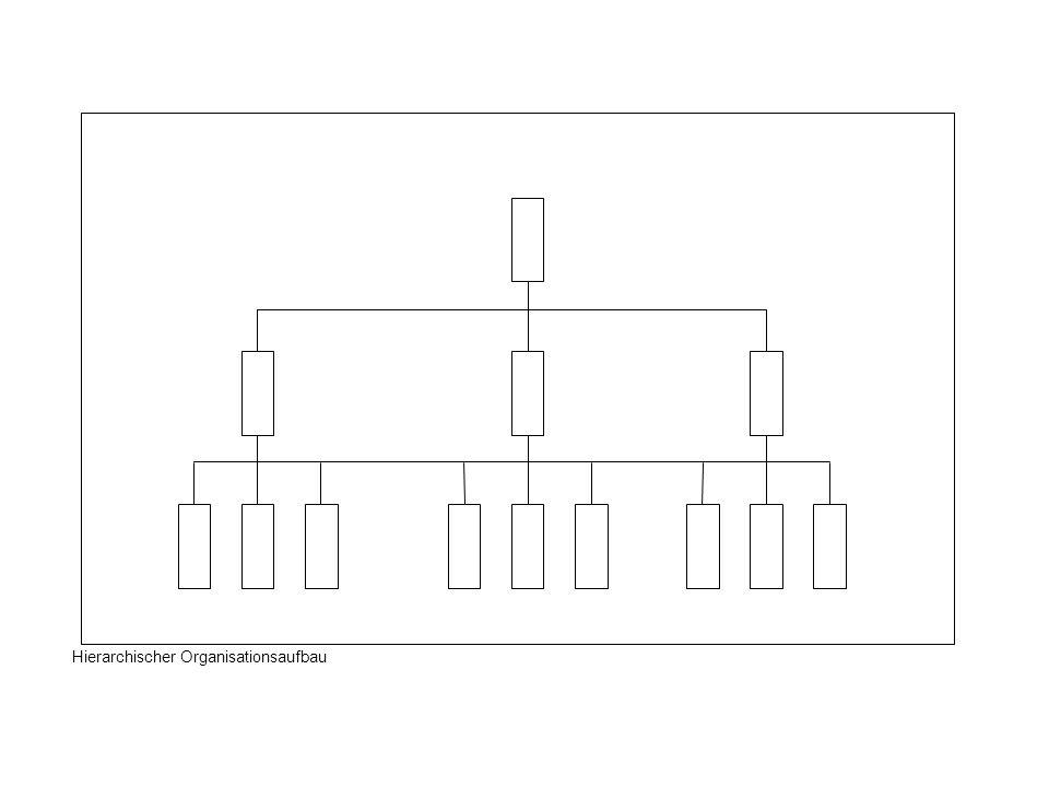 Hierarchischer Organisationsaufbau