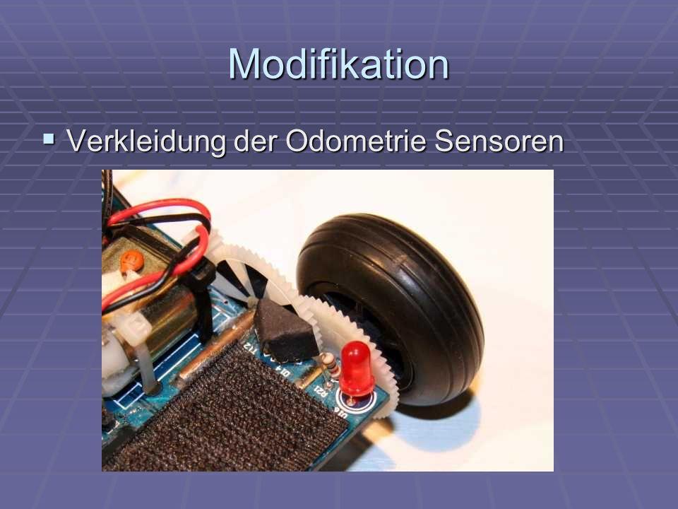 Modifikation Verkleidung der Odometrie Sensoren Verkleidung der Odometrie Sensoren
