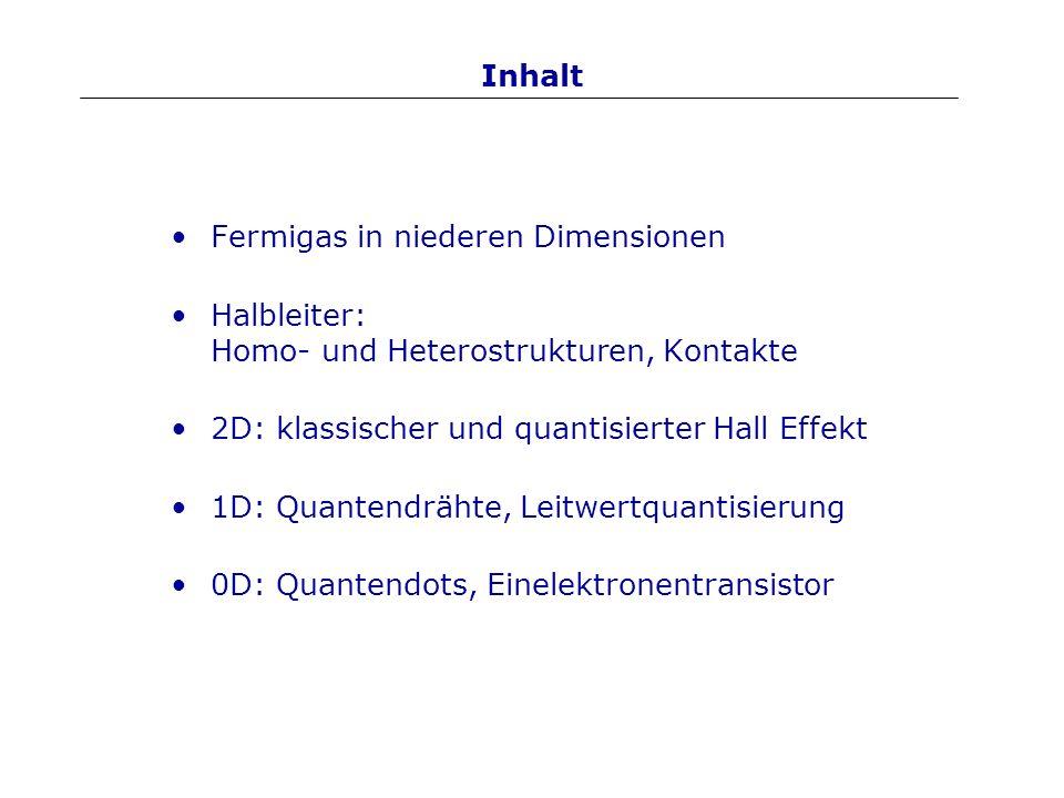 1D: Herstellung Zusätzlicher Potentialberg drückt 2DEG ab.