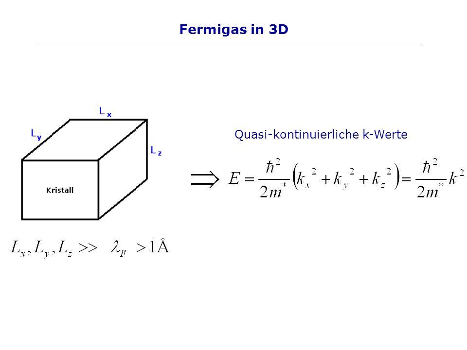 2D: klassischer Hall Effekt E-Feld in x-Richtung B-Feld in z-Richtung Lorentzkraft in y-Richtung E-Feld in y-Richtung (h + ) Kompensation der Felder Gleichgewichtzustand Für den definierten Hallwiderstand ergibt sich: