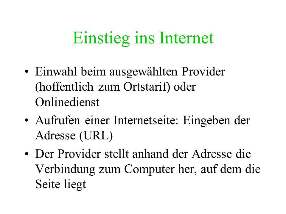 Vom LAN zum WAN Mehrere Netzwerke können wiederum miteinander verbunden werden Die Computer-Knoten in diesem neuen Netz können weit auseinander liegen