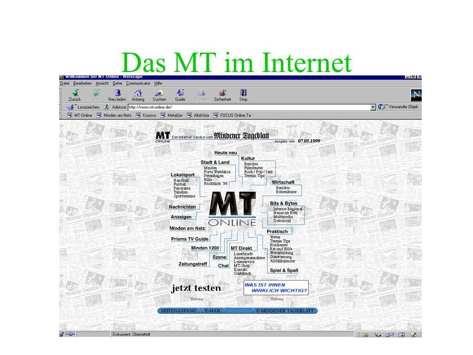 WEB-Adressen Websites lassen sich wie folgt aufrufen: http://www.Domain-Name.Suffix Beispiel: http://www.mt-online.de