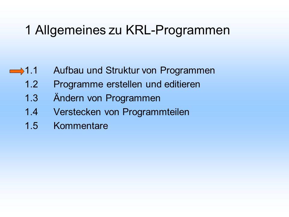 1.1 Aufbau und Strukturen von Programmen