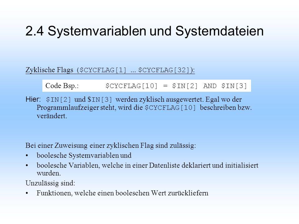 2.4 Systemvariablen und Systemdateien Zyklische Flags ($CYCFLAG[1]...