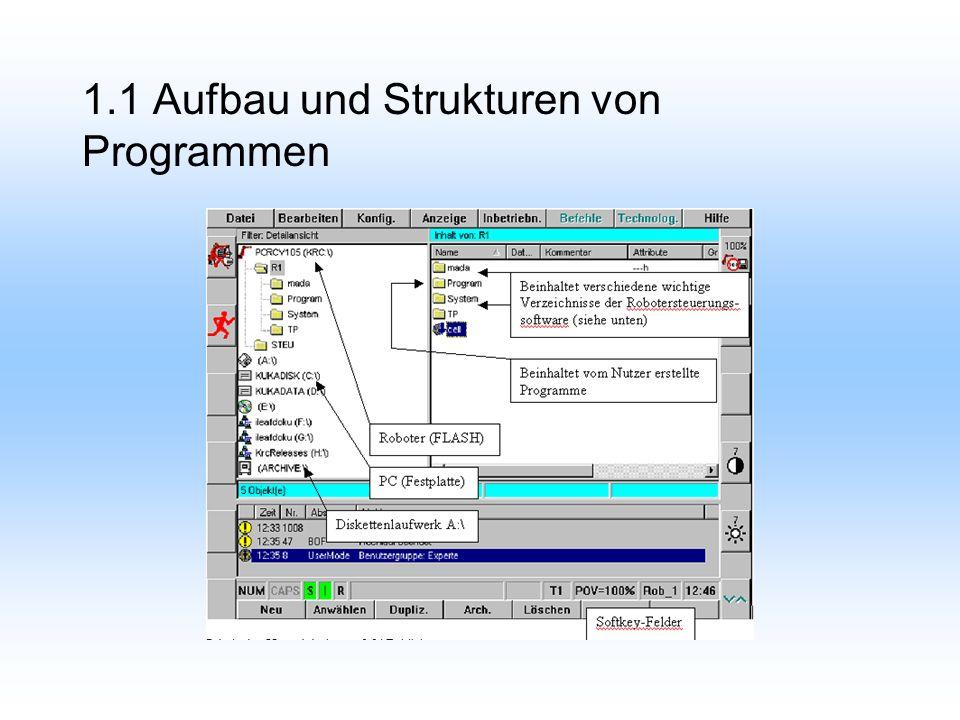 1.1.1 Dateienkonzept Jedes Programm besteht aus 2 Dateien. SRC-Datei (*.src) DAT-Datei (*.dat)