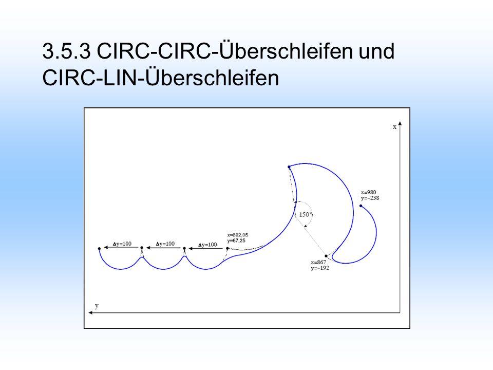 3.5.3 CIRC-CIRC-Überschleifen und CIRC-LIN-Überschleifen
