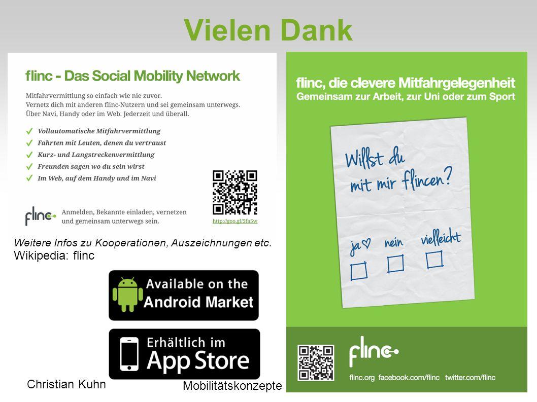 Christian Kuhn Mobilitätskonzepte Vielen Dank Weitere Infos zu Kooperationen, Auszeichnungen etc.
