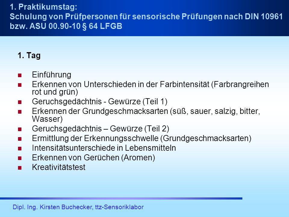 Dipl.Ing. Kirsten Buchecker, ttz-Sensoriklabor 2.
