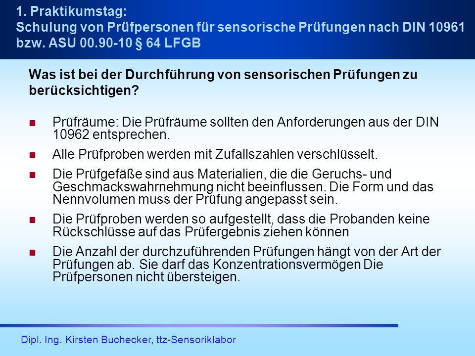 Dipl.Ing. Kirsten Buchecker, ttz-Sensoriklabor Testdesign: Fragen: Wie gefällt…...