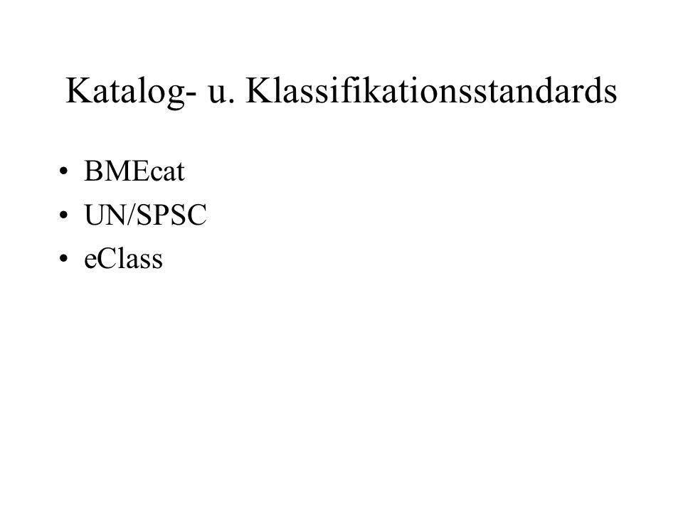 Katalog- u. Klassifikationsstandards BMEcat UN/SPSC eClass