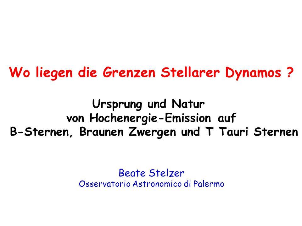 Vorhauptreihen-Sterne: Späte Hauptreihen-Sterne: L x ~ (v sini) 2...........