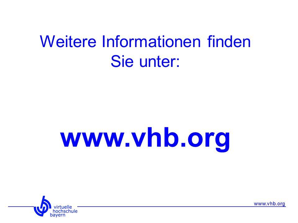 Weitere Informationen finden Sie unter: www.vhb.org